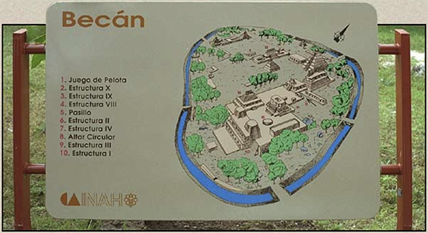 Site Map of Ancient Becan