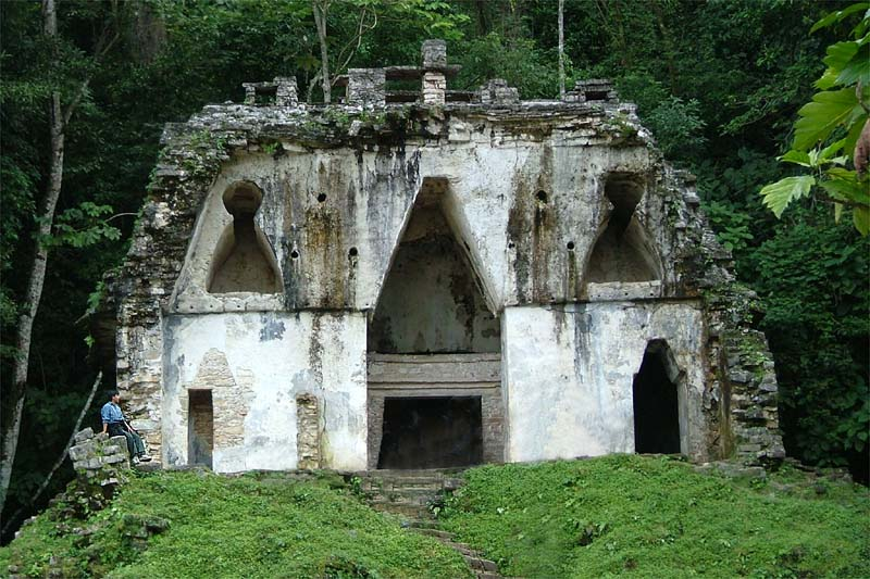 Palenque temple of the foliated cross new year s day 2004